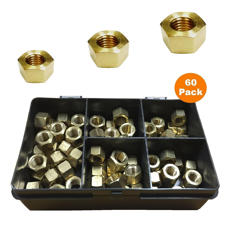 60 x Brass Exhaust Manifold Nuts M8 x 1.25, M10 x 1.25 & M10 x 1.5 Pitch Home.smart