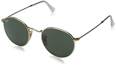 ray ban round metal arista frame crystal green lenses 47mm non polarized