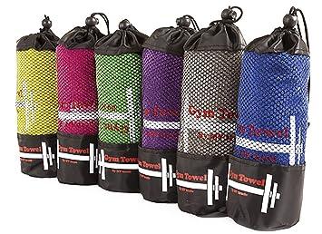 fitness handtuch mit tasche