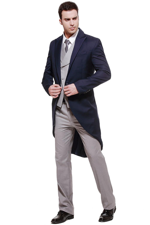 CMDC Mens Wedding Dresses 3-Piece Suit Blazer Jacket Tux Vest /& Trousers U7