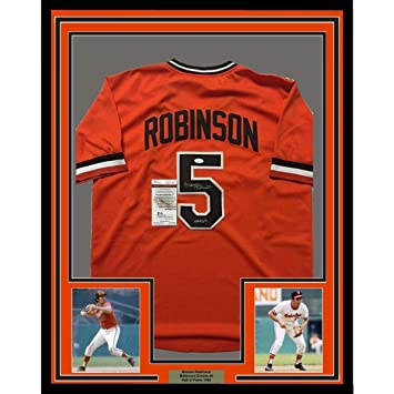67bf99976 Signed Brooks Robinson Jersey - FRAMED 33x42 Orange COA - JSA Certified -  Autographed MLB Jerseys