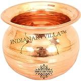 Indian Art Villa Copper Kalash Lota Pot, Puja Wedding Purpose, Temple Home, 750 ML, Brown
