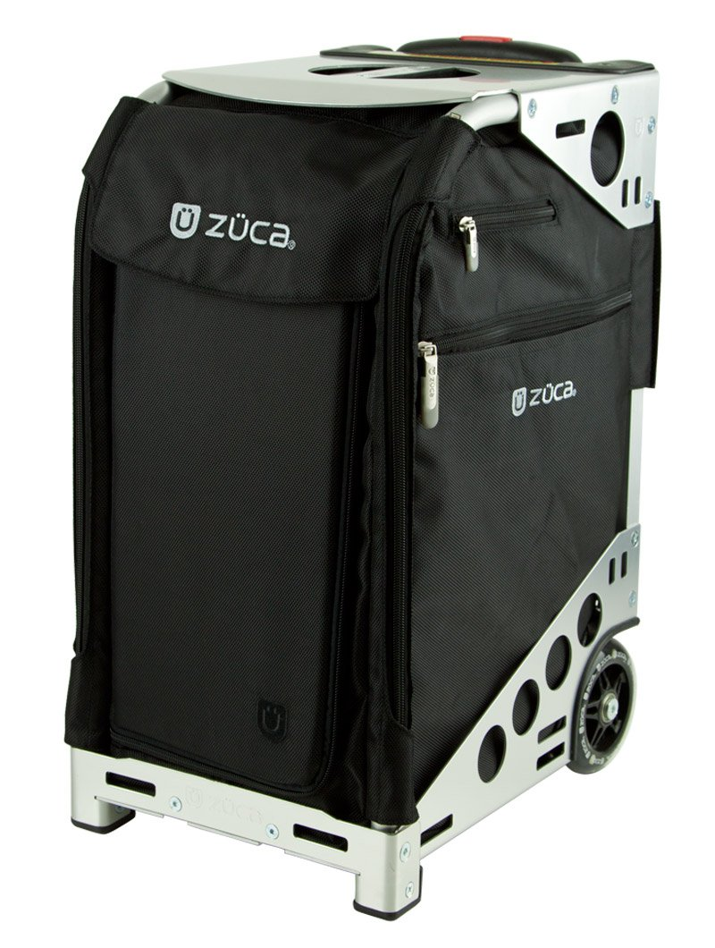 Zuca Pro Travel Set w/ matching cover - Black Sport Insert Bag -Choose your frame color! (silver frame) by ZUCA