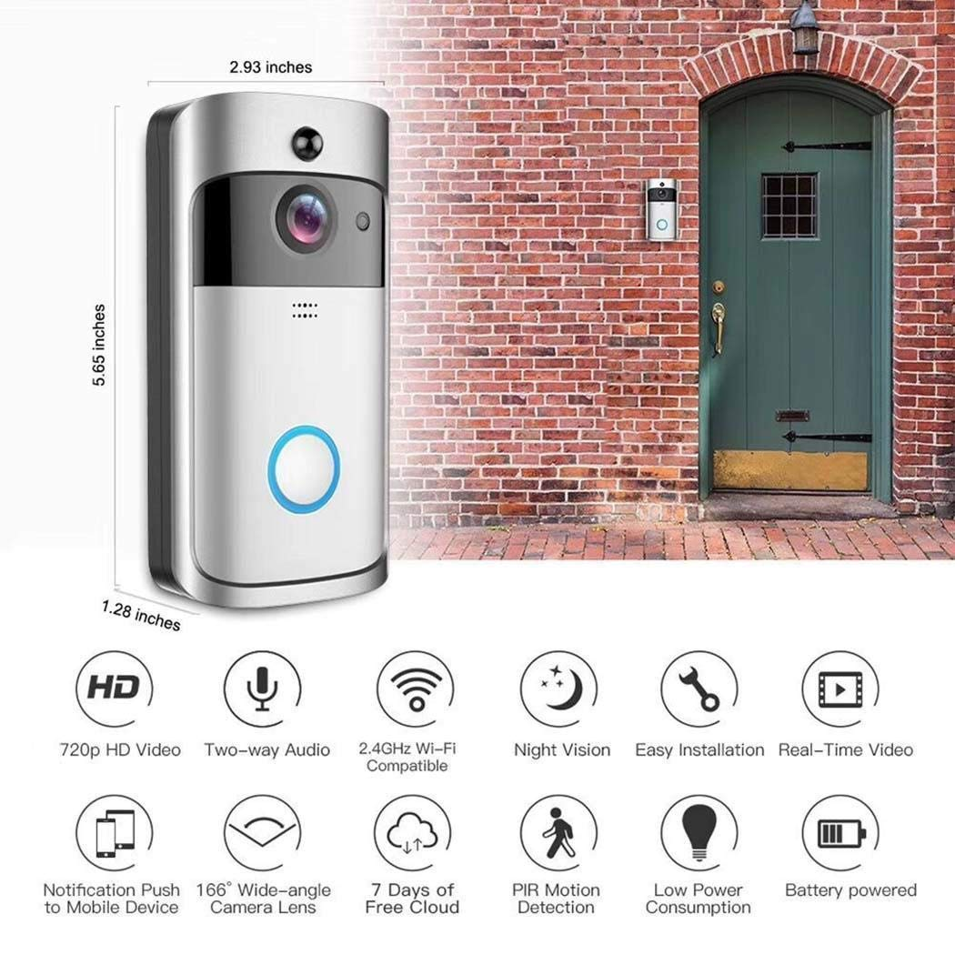 Mandii Video Wireless Doorbell WiFi HD Home Security Wide Angle Night Vision Doorbell Kits by Mandii (Image #6)
