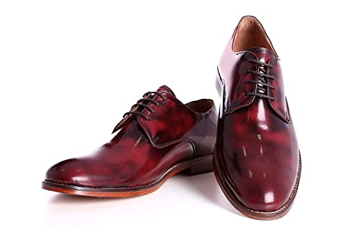 BootEase Men's Red Leather Casual Shoes