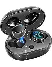 Auricolari Bluetooth 5.0 Cuffie Senza Fili, moosen IPX7 Impermeabile 27H Playtime AAC 8.0 CVC 8.0 Vero Wireless Cuffie Sport con Hi-Fi Deep Bass 3D Stereo Sound, Touch Control & Custodia di Ricarica