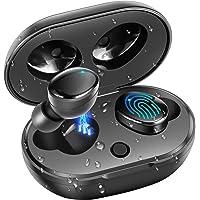 Bluetooth 5.0 Kabellose Kopfhörer, moosen IPX7 Wasserdicht 27H Spielzeit AAC 8.0 CVC 8.0 True Kabellose Kopfhörer Ohrhörer mit Hi-Fi Deep Bass 3D Stereo Sound, Touch Control & Charging Case