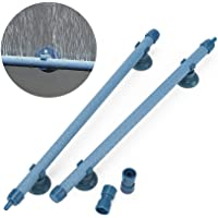 PAGOW 2 Pieces 10 Inch Aquarium Bubble Wall Air Stone Bar, Air Stone Bar Tubes with Suction Cups, Spray Aeration for…