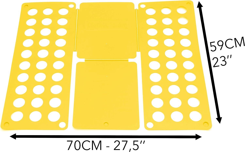 Tabla para Doblar Camisas Takit Tabla para Doblar Ropa Amarillo 70x59cm Tabla para Doblar Vestidos Pantalones Toallas Camisetas//Organizador De Ropa