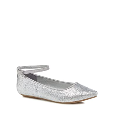 bbb8e40bf65 bluezoo Kids Girls  Silver Glitter Pumps  Amazon.co.uk  Shoes   Bags