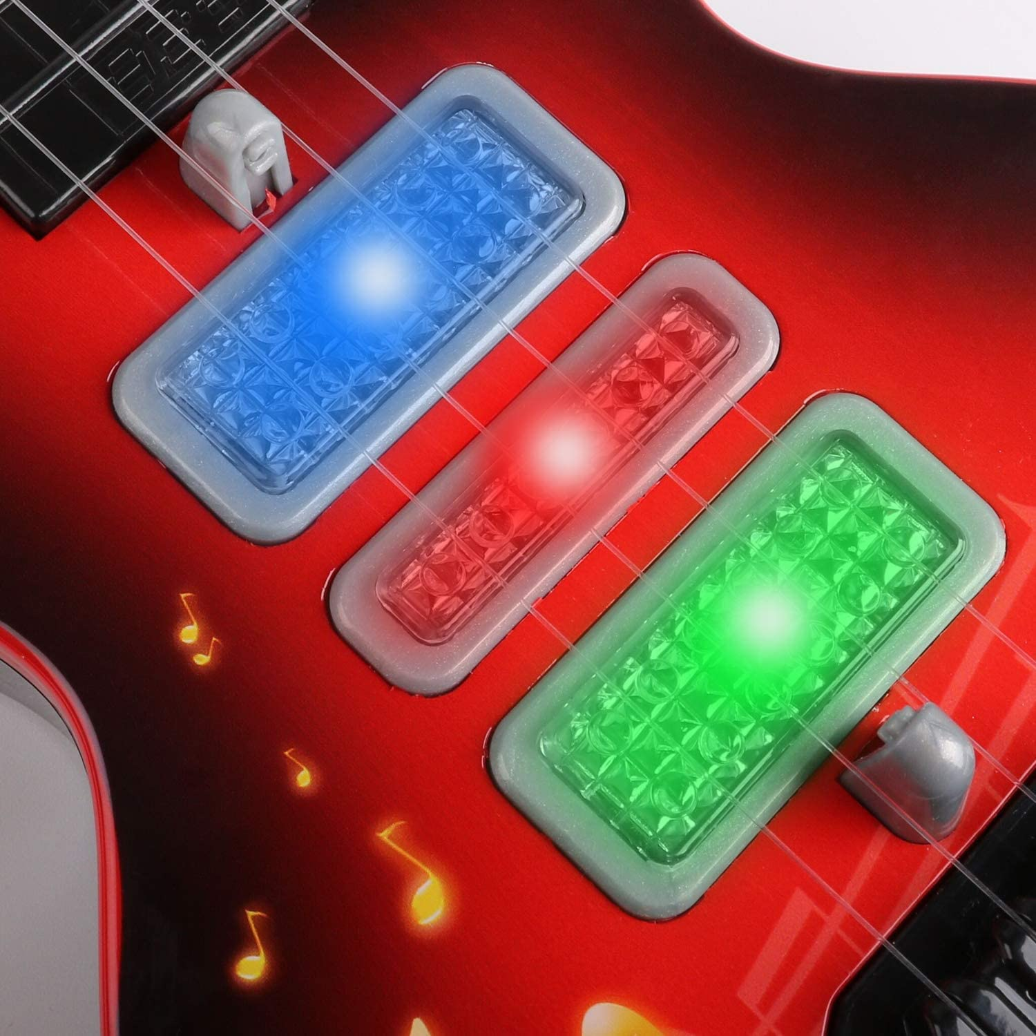 KIDS TOY GUITARS  With Battery Operated Music  light IN Mixed Colour