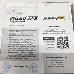 Armytek Wizard Pro V3 Xhp50 White Usb Magnet Rechargeable Headlamp 2300 Lumens Amazon Com