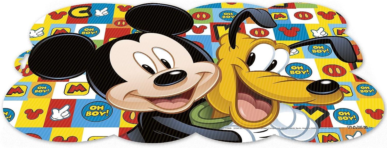 ALMACENESADAN 0422, Mantel Individual Disney Mickey Mouse y Pluto; Dimensiones 43x29 cms; Producto de plástico; Libre bpa.