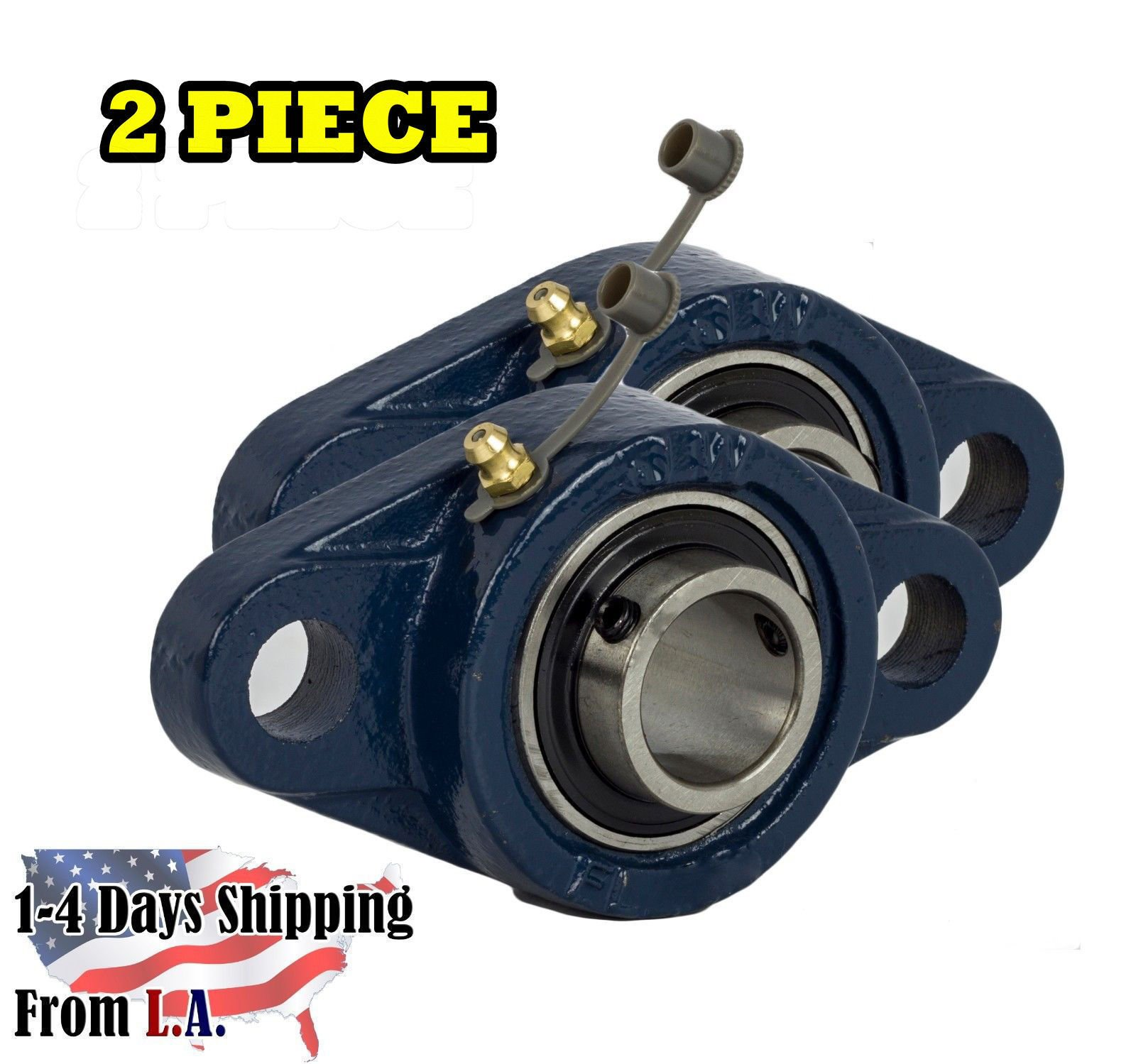 2 Pieces- UCFL204-12 3/4 inch 2 Bolt Pillow Block Flange Bearing, Self-Alignment, Brand New
