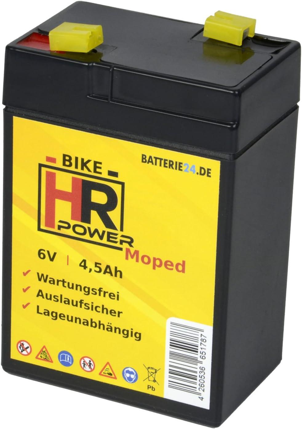 Gel Starterbatterie F Simson Kr51 Schwalbe 6v 4 5ah Star Sperber Habicht Akku Auto