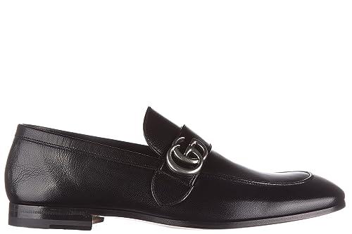 Gucci mocasines en piel hombres nuevo quentin negro EU 44 450853 D3V00 1000: Amazon.es: Zapatos y complementos