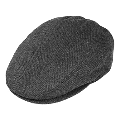 Jaxon   James Herringbone Flat Cap - Charcoal  Amazon.co.uk  Clothing 4140ac1c3d3