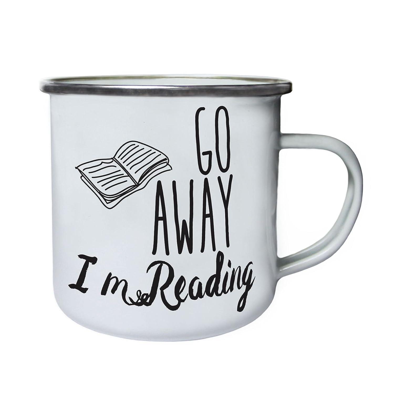 Vete, estoy leyendo Retro, lata, taza del esmalte 10oz/280ml cc655e INNOGLEN