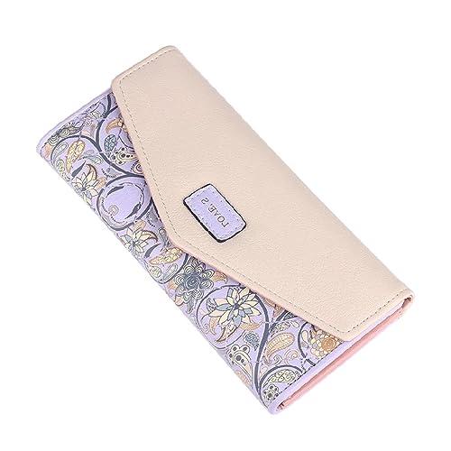 Womens ladies ENVELOPE leather wallet card button clutch purse long handbag bag