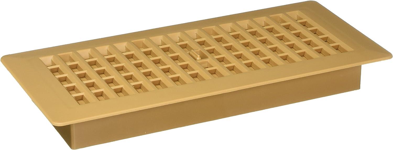 Decor Grates PL410-CML 4-Inch by 10-Inch Plastic Floor Register, Caramel