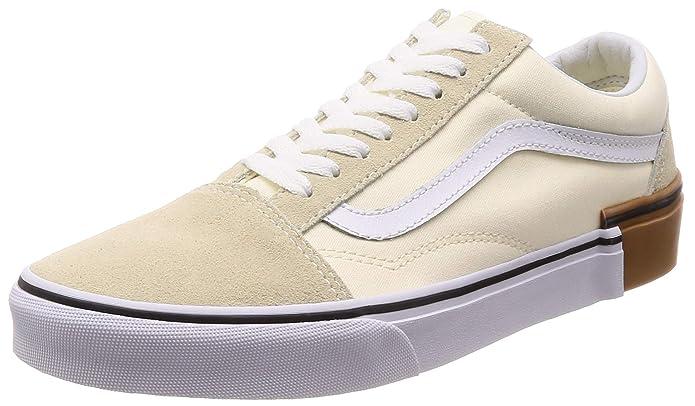 Vans Old Skool Sneaker Damen Herren Kinder Unisex Weiß (Classic White)