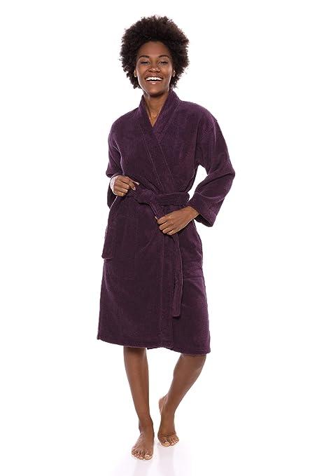 ebab822e28 Texere Women s Organic Cotton Terry Robe - Slim Fit Bathrobe for Her  (Megève) at Amazon Women s Clothing store