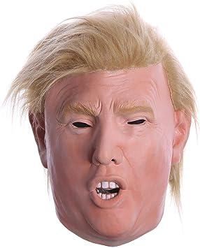 Máscara de Donald Trump de Látex para Adultos. Perfecciona tu Disfraz. Careta con Peluca al Más Puro Estilo Trump: Amazon.es: Juguetes y juegos