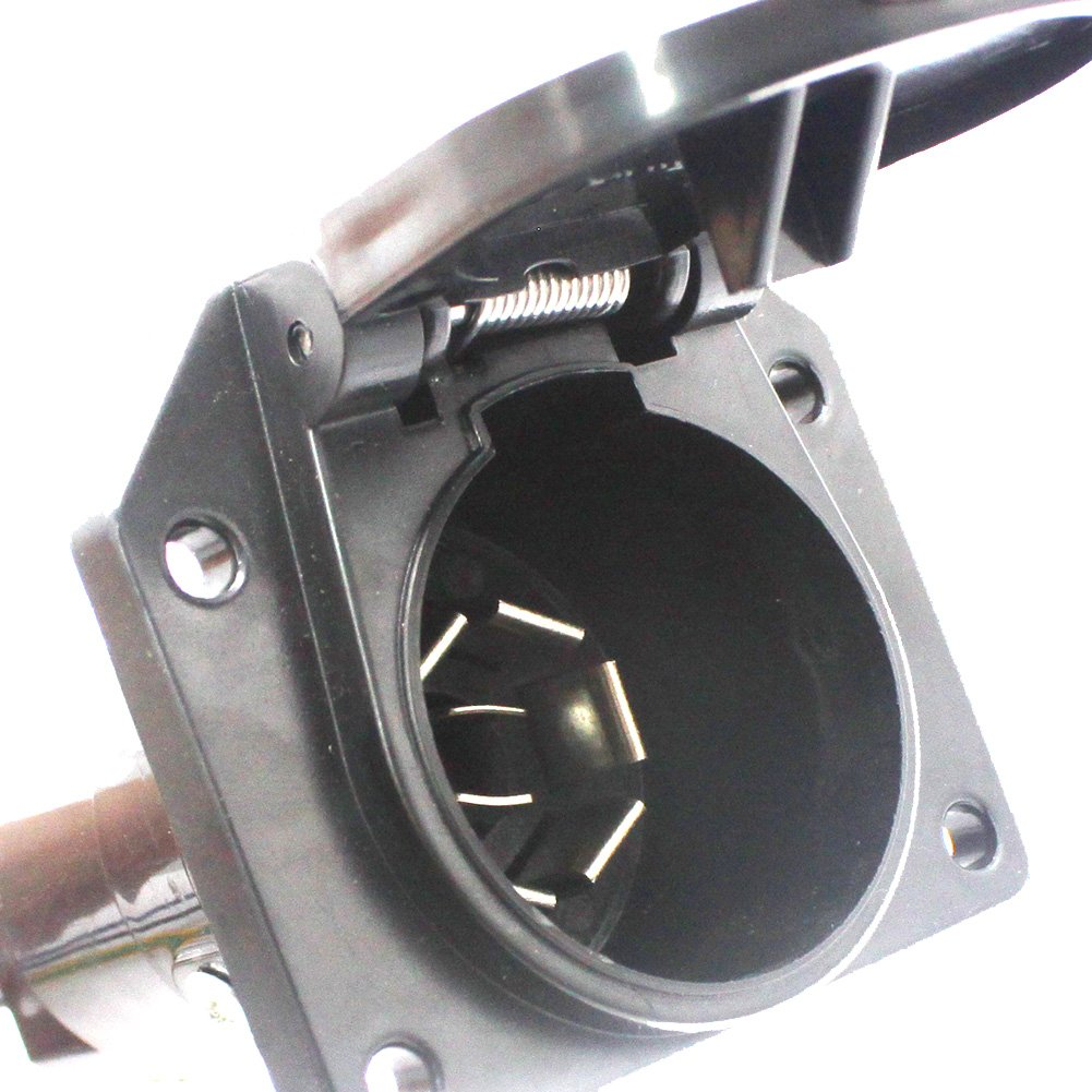 X Haibei 4 Wire Flat To 7 Way Rv Trailer Light Plug Harness Adapter