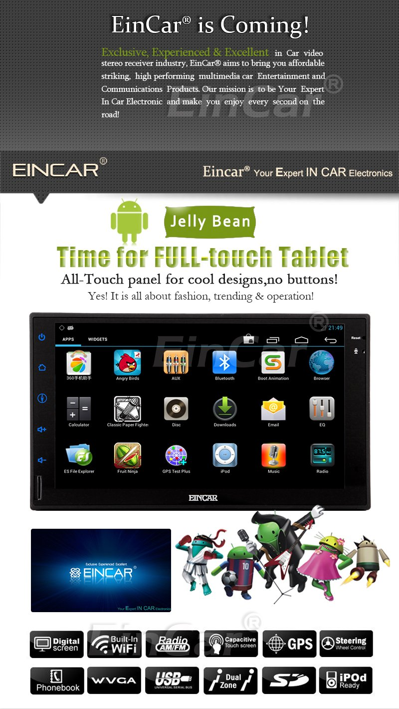 EinCar GPS Pure Android 5.1 pantalla tš¢ctil capacitiva RDS ...