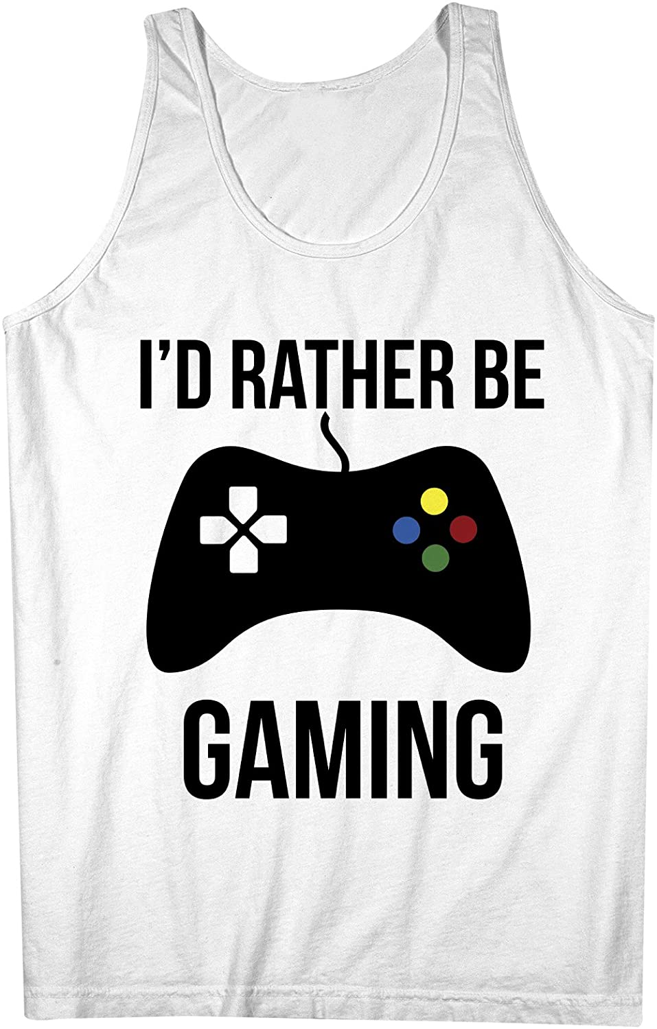 Teequote Id Rather Be Gaming Gamer Console Controller Video Game Player Mens Tank Top Sleeveless Shirt