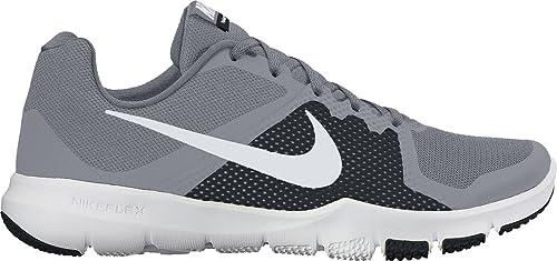 Nike - Performanceflex Control - Zapatillas Fitness e Indoor - White/Black: Amazon.es: Zapatos y complementos