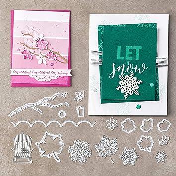 Blase Stanzformen Schablone Scrapbooking Prägepapier Karten DIY Dekor