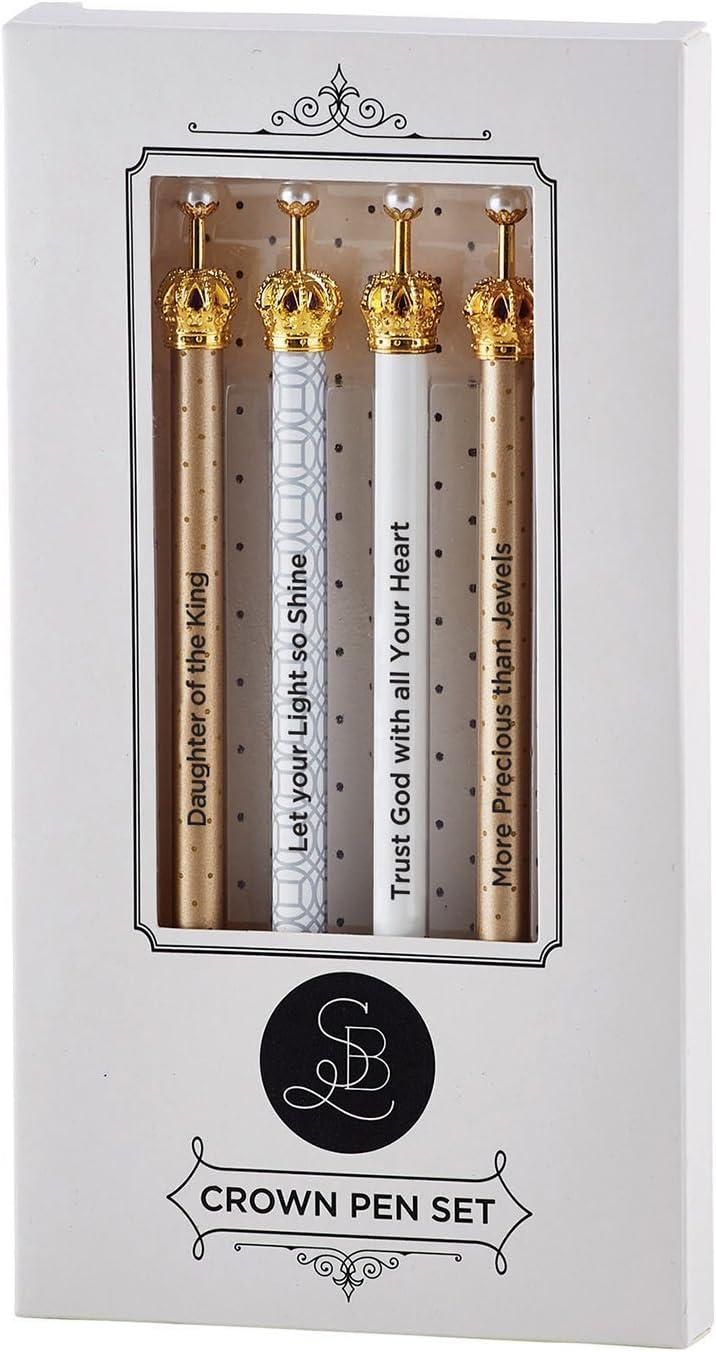 Santa Barbara Glam Crown Pen Gift Set Pack of 4