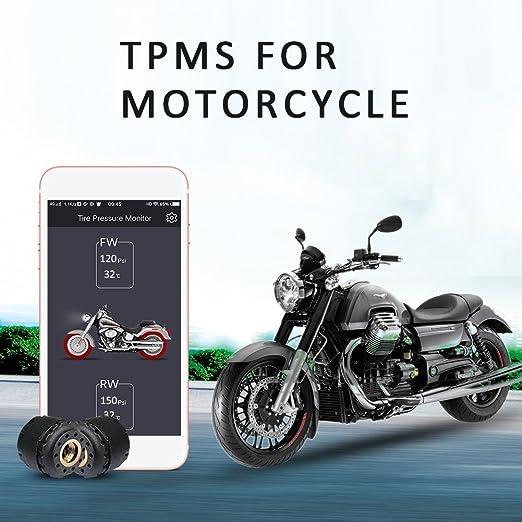 Lzcat TP200/motorcycle Bluetooth sistema di monitoraggio della pressione dei pneumatici TPMS mobile phone app rilevamento 2/sensori esterni