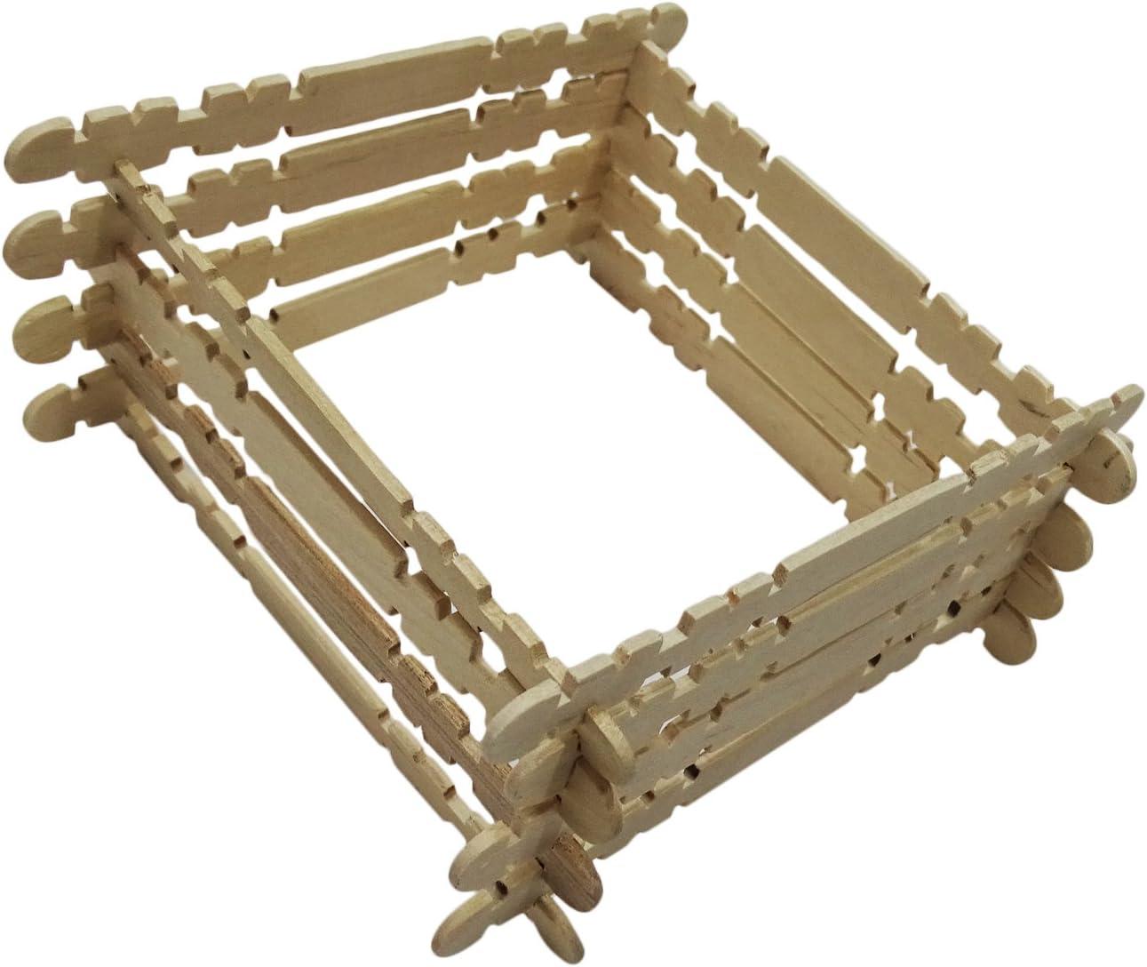 PEEGLI 50 Pcs Palitos De Madera De Madera De Helado Hecho A Mano Sticks Sticks Diseñador Proyecto del Arte De Los Niños: Amazon.es: Hogar