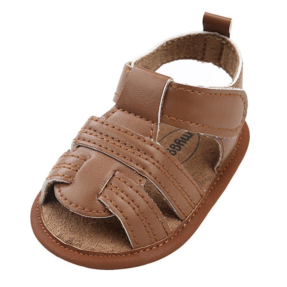 Minuya Chaussures de Bébé, Chaussures Bébé Garçon Semelle Souple Poids Léger Ete Sandales Chaussures Premiers Pas pour Bebe Garcon 0-18 Mois