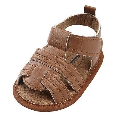 8cdbf6d2effcd Minuya Chaussures de Bébé, Chaussures Bébé Garçon Semelle Souple Poids  Léger Ete Sandales Chaussures Premiers Pas pour Bebe Garcon 0-18 Mois:  Amazon.fr: ...