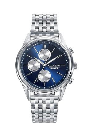 Viceroy Reloj Cronógrafo para Hombre de Cuarzo con Correa en Acero Inoxidable 401123-37: Amazon.es: Relojes