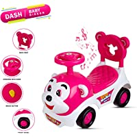 !!! Don't Miss Launch Offer !!! Dash 2 in 1 Attractive Baby Toy Monkey Ride On , Baby car , Push Car for Toddlers and Kids with Musical Tunes n Storage (Pink)