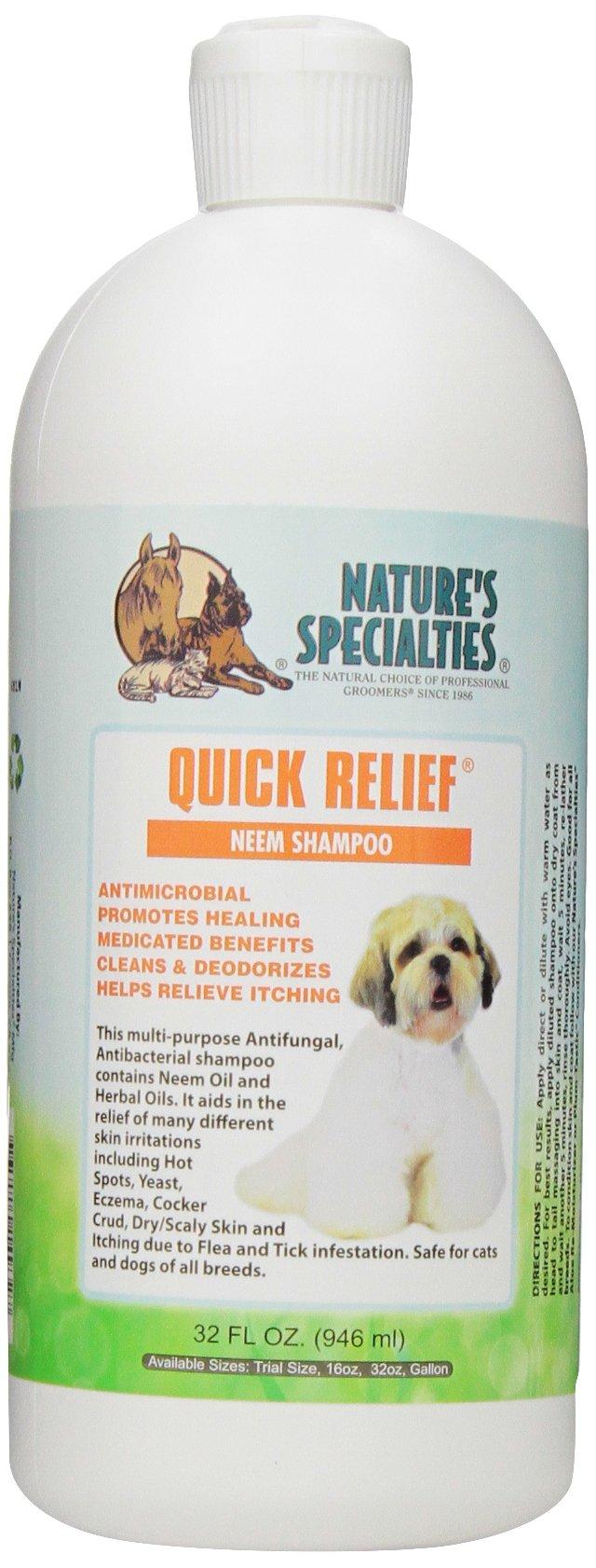 Nature's Specialties Quick Relief Neem Shampoo for Pets, 32-Ounce by Nature's Specialties Mfg
