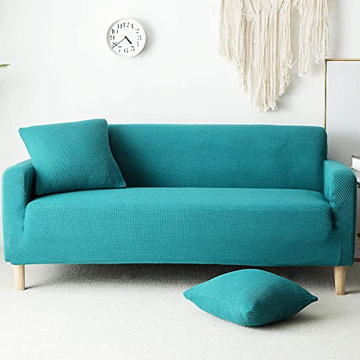 Amazon.com: Funda de sofá de felpa de color sólido con ...
