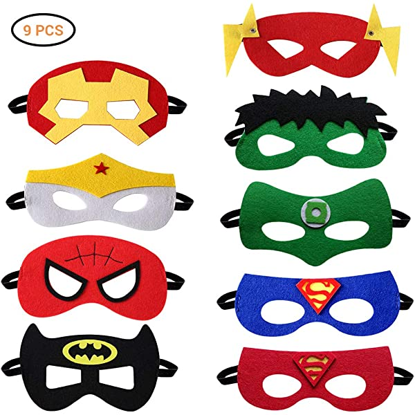 MiniMochi Máscaras Superhéroes Niños, Antifaz Superheroes de ...