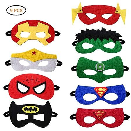 Máscaras de superhéroes, máscaras de fieltro Máscaras de ...