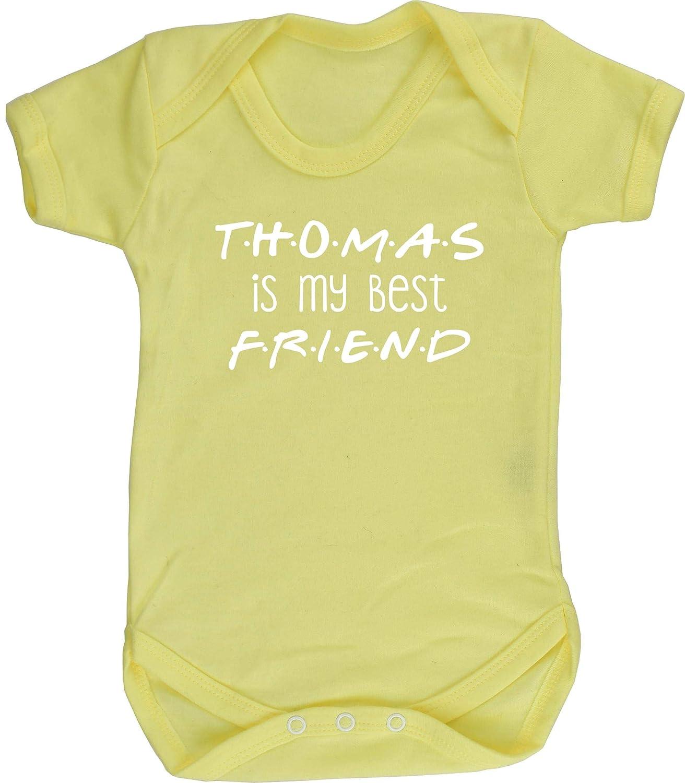 Hippowarehouse Personalised Name is My Best Friend Baby Vest Bodysuit Boys Girls Short Sleeve