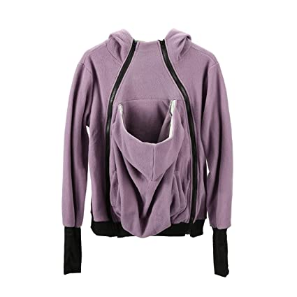 bc25a21d94930 Image Unavailable. Image not available for. Color: Liobaba Womens Maternity  Fleece Hoodie 3 in 1 Kangaroo Pocket Carrier Baby Holder