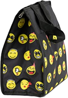 94ed3450ad7 April Fashion Island School Lunchbox for Boys and Girls, Insulated,  Collapsible (Black Emoji