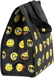 696d20c913b9 Amazon.com  EmojiNation School Lunch Box - Black Emoji Emotions ...