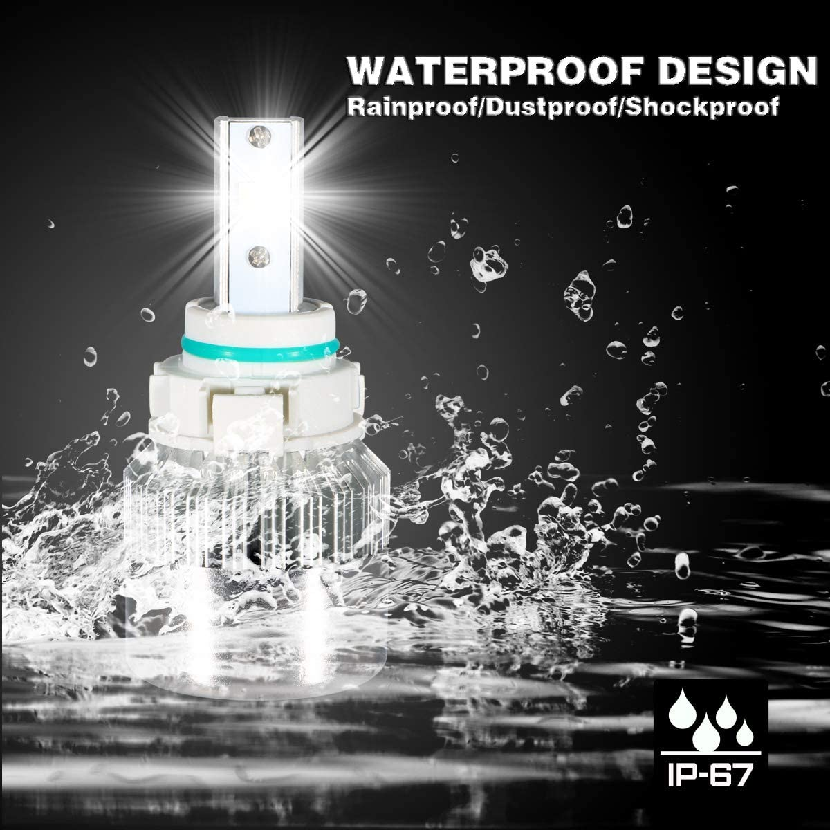 2-Years Warranty DAWOOLUX H1 LED Headlight Bulbs Conversion Flip Chips//Internal Driver-Dual All-in-one Extremely Bright 6000K Cool White 7600 Lumens 72W