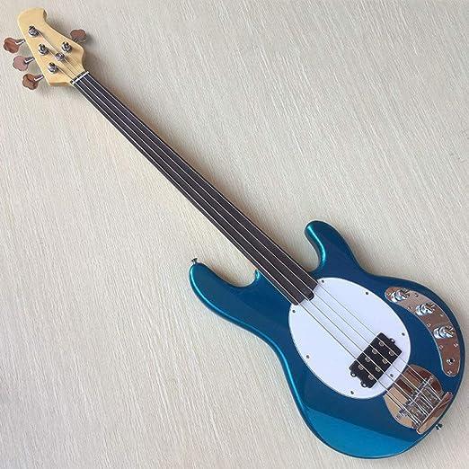 LOIKHGV Guitarras- Guitarra de 4 Cuerdas Metalizado Azul traste ...
