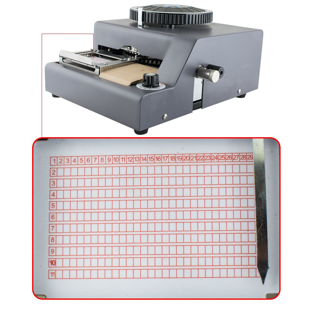 Zinnor 72-Character Letters Manual Embosser Machine for PVC Gift Card Credit VIP ID Embossing